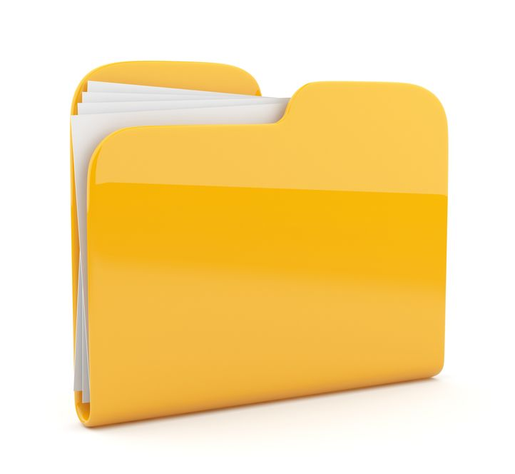 13078271 - yellow folder. file 3d.  icon isolated on white background