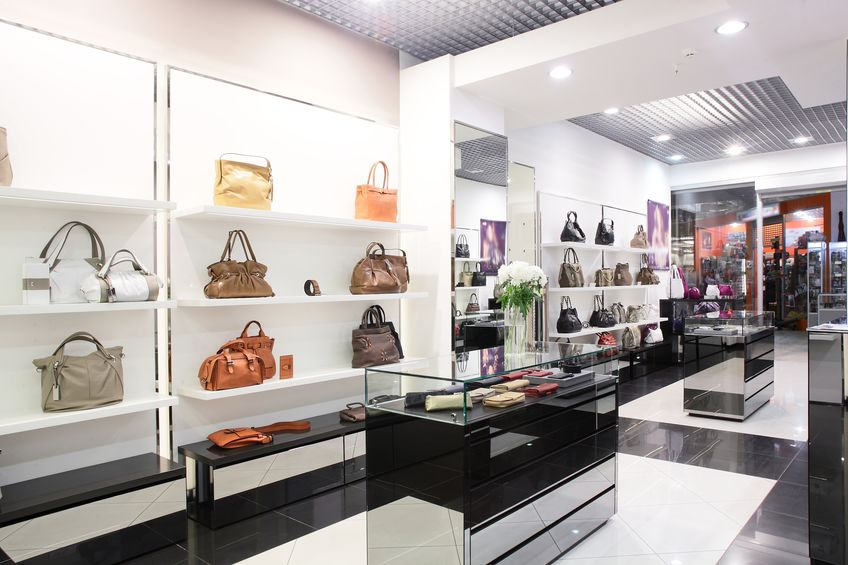 21557243 - bright and luxury european bag and jewellery store