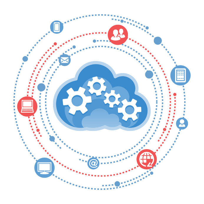 37647771 - cloud, computing, service illustration.