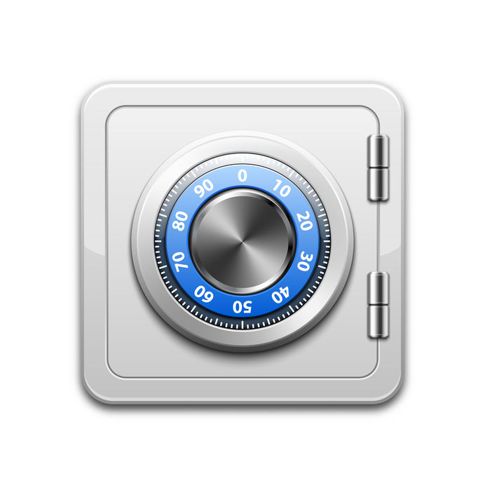 Vector metal safe icon